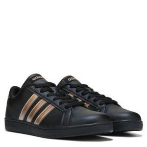 black rose gold adidas shoes
